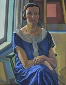1_k_Magda Langenstraß-Uhlig_ Selbstporträt im blauen Kleid, um 1933