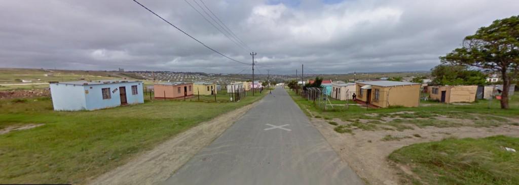 Straßenansicht in Potsdam, Ostkap, Südafrika (Google Earth / Google Street View)